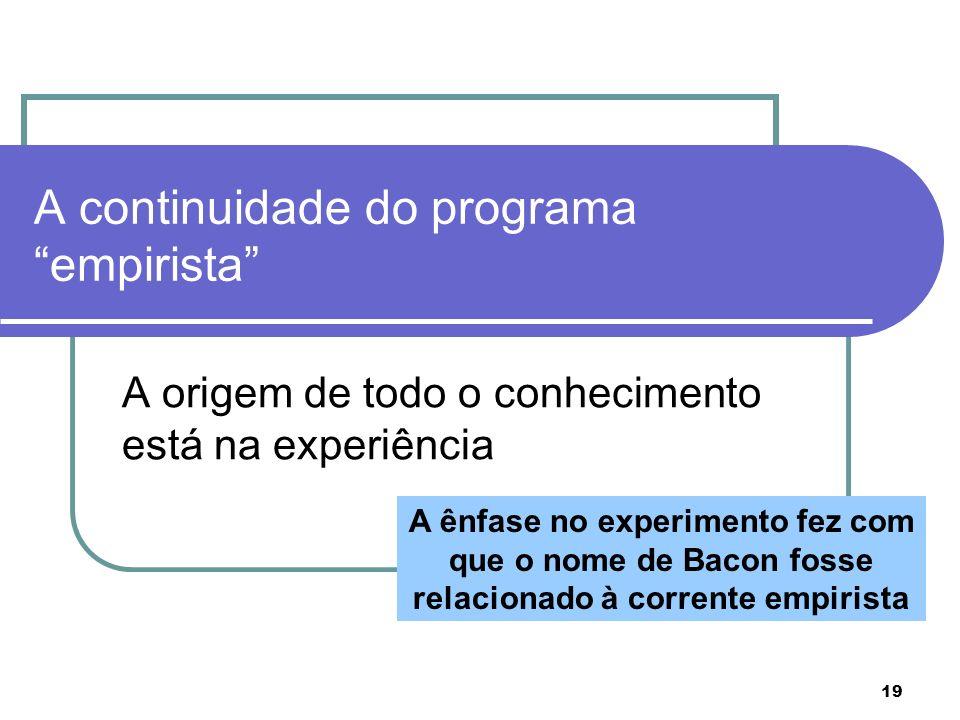 A continuidade do programa empirista