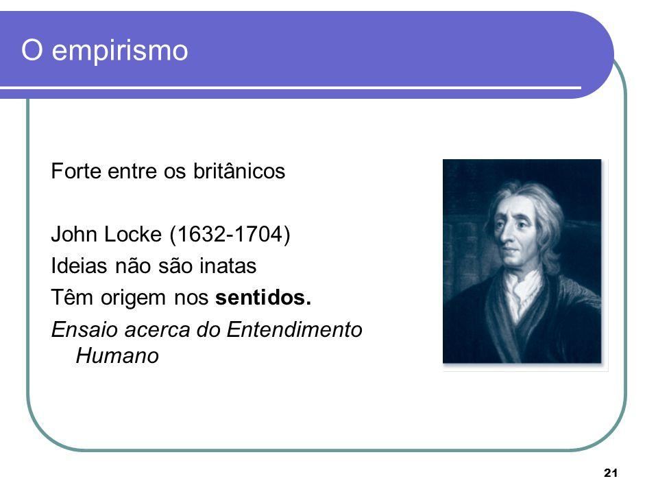 O empirismo Forte entre os britânicos John Locke (1632-1704)