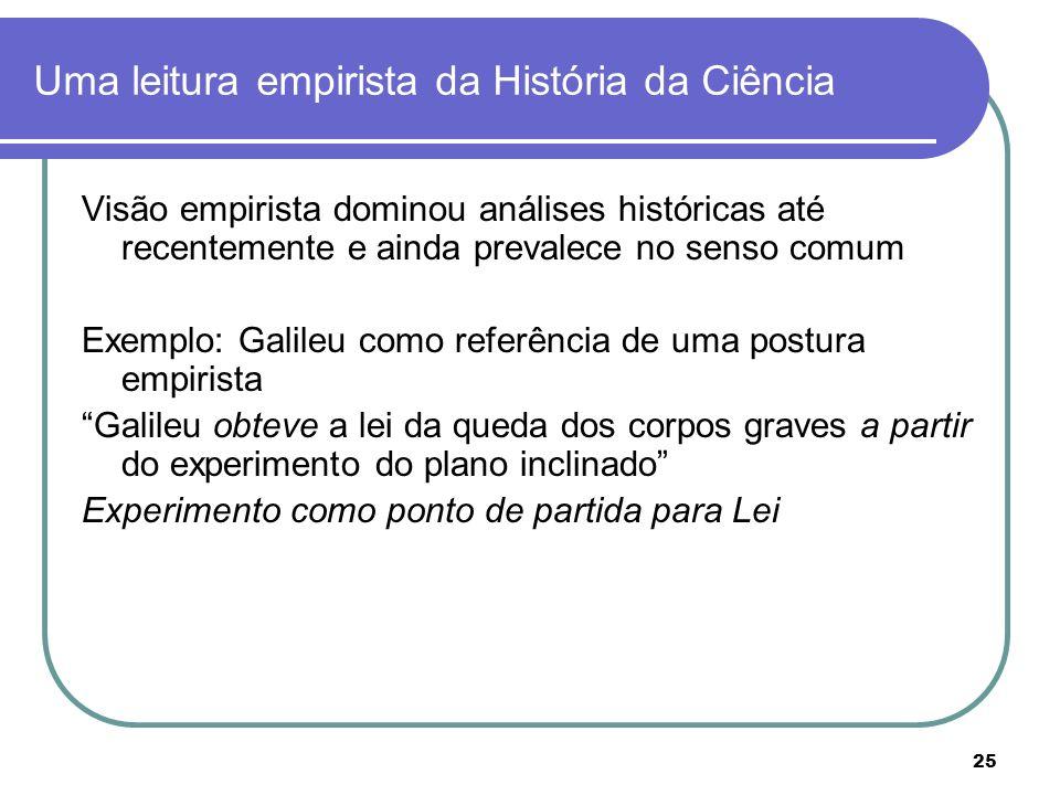 Uma leitura empirista da História da Ciência
