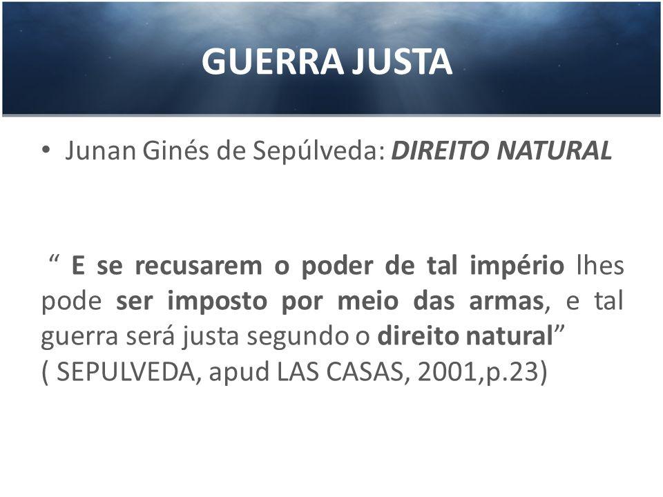 GUERRA JUSTA Junan Ginés de Sepúlveda: DIREITO NATURAL