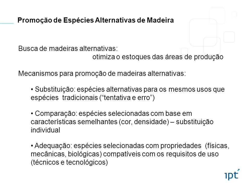 Promoção de Espécies Alternativas de Madeira
