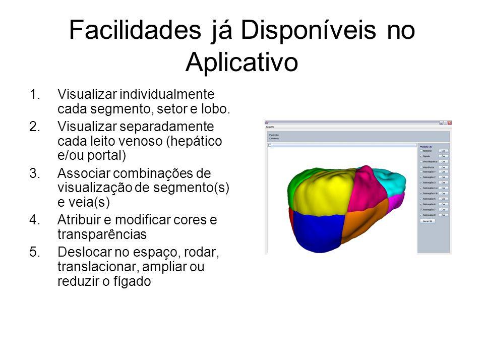 Facilidades já Disponíveis no Aplicativo