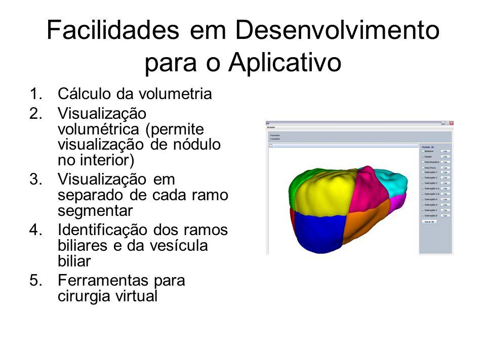 Facilidades em Desenvolvimento para o Aplicativo