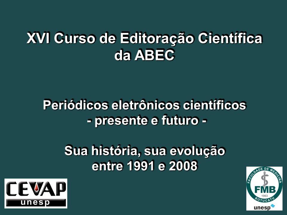 XVI Curso de Editoração Científica da ABEC