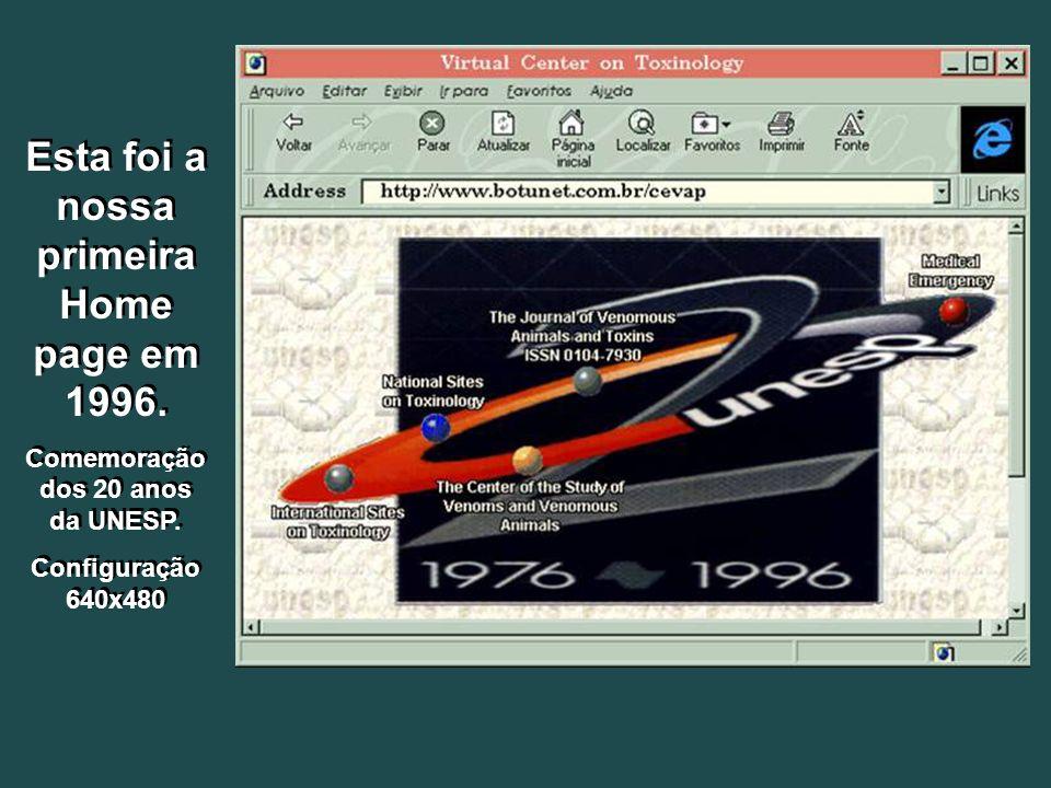 Esta foi a nossa primeira Home page em 1996.