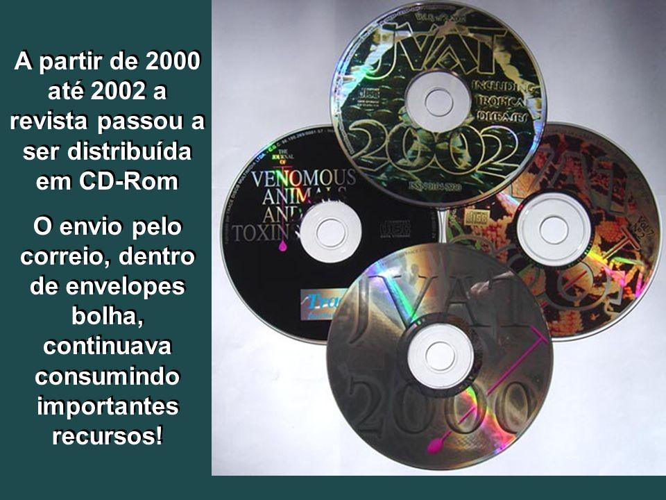 A partir de 2000 até 2002 a revista passou a ser distribuída em CD-Rom