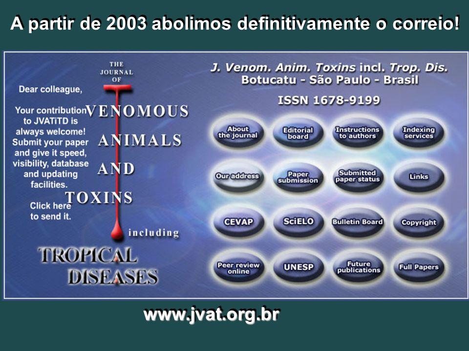 2003 A partir de 2003 abolimos definitivamente o correio!
