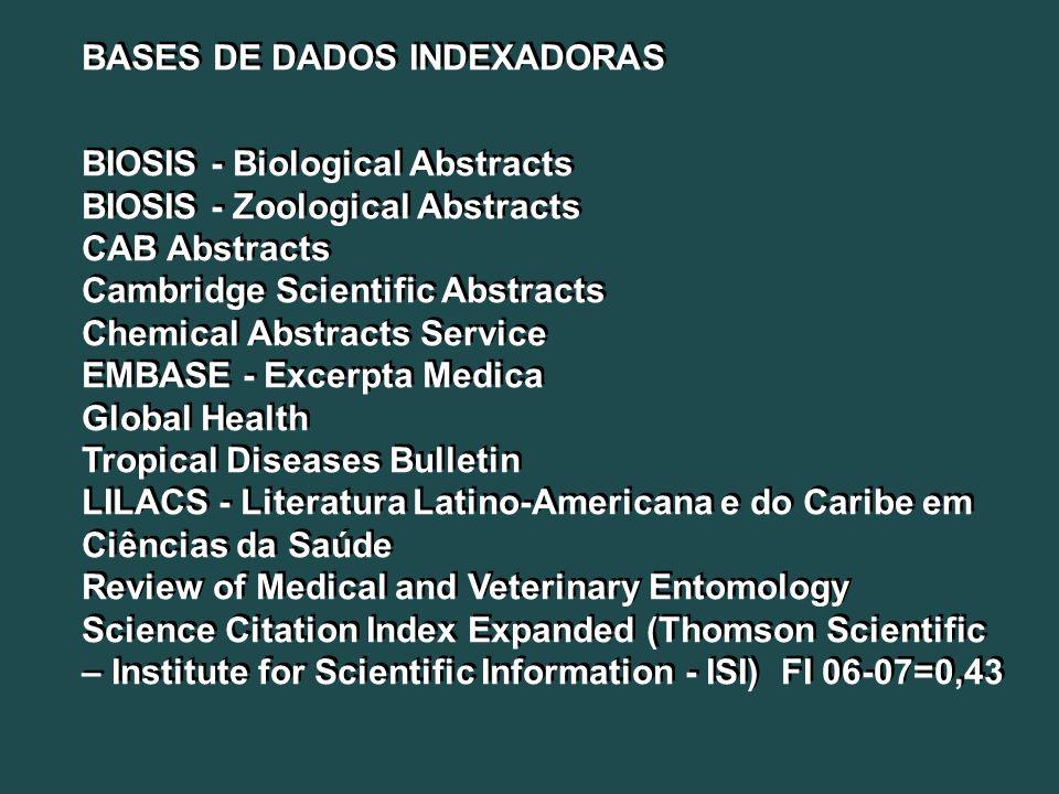 BASES DE DADOS INDEXADORAS