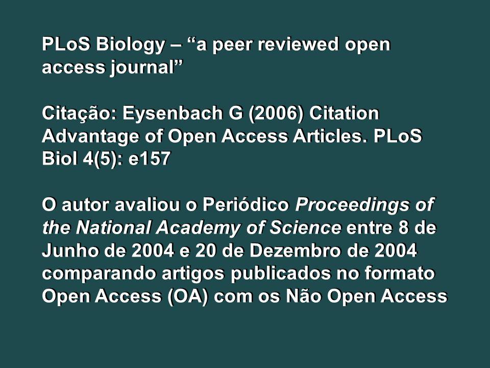PLoS Biology – a peer reviewed open access journal