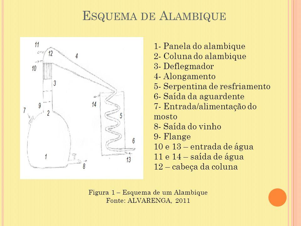 Figura 1 – Esquema de um Alambique