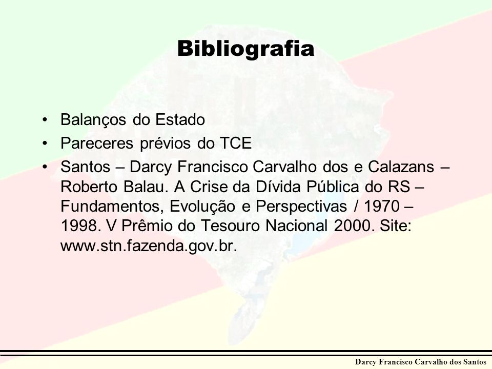 Bibliografia Balanços do Estado Pareceres prévios do TCE