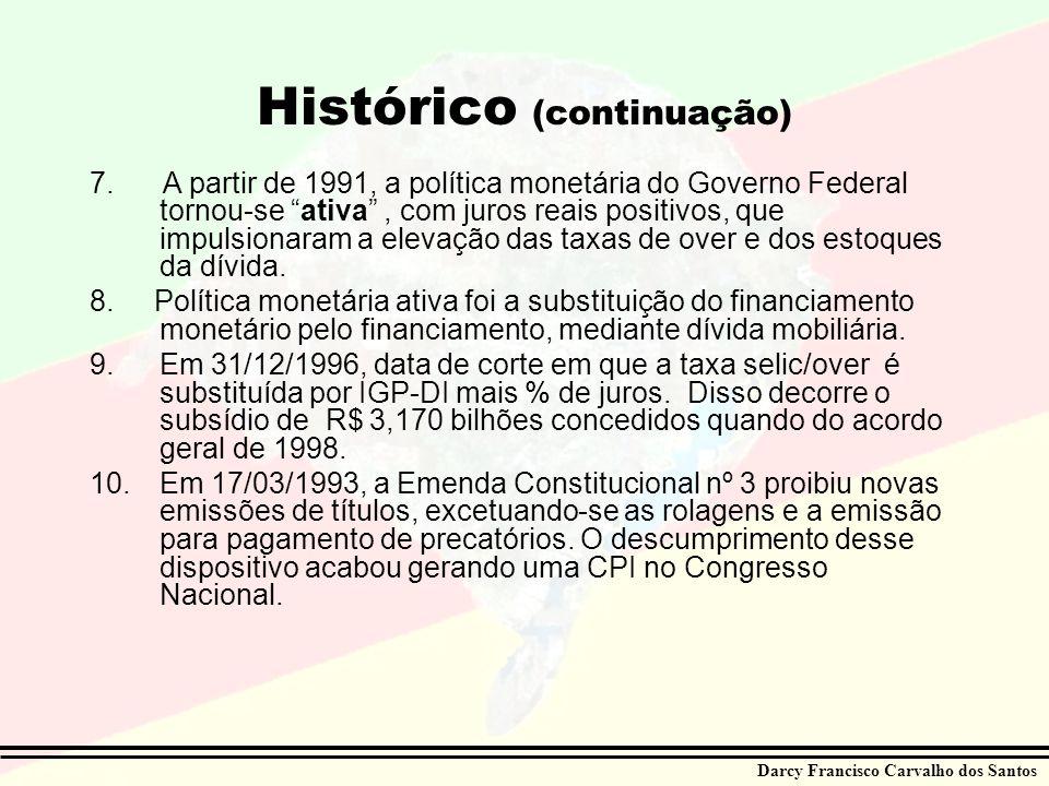 Histórico (continuação)