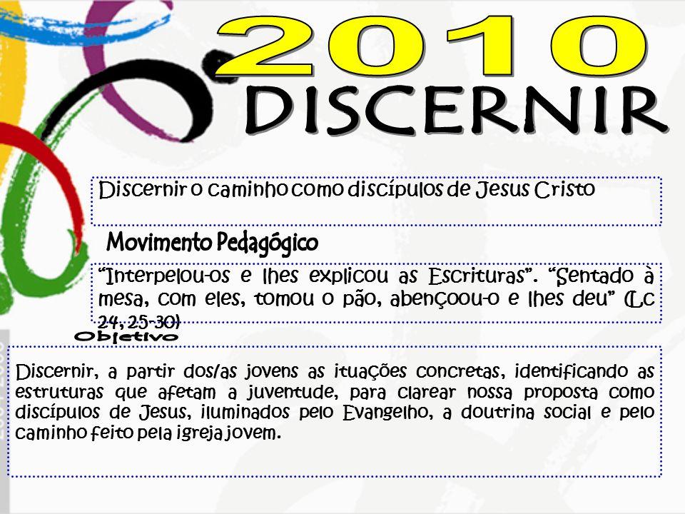2010 DISCERNIR Movimento Pedagógico Objetivo