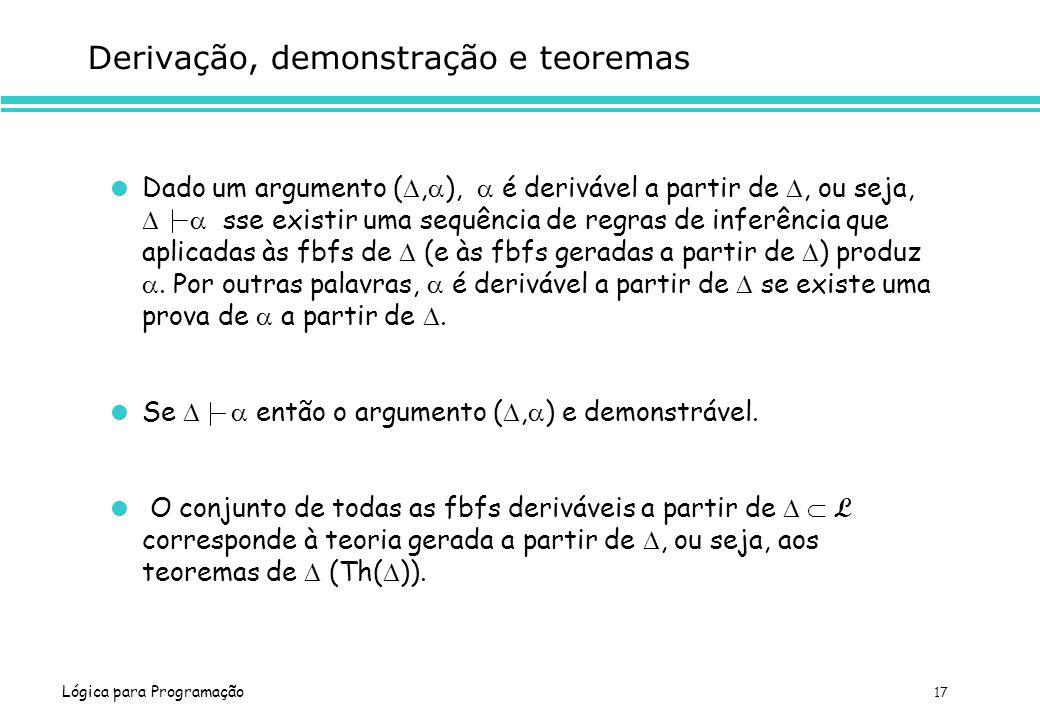 Derivação, demonstração e teoremas