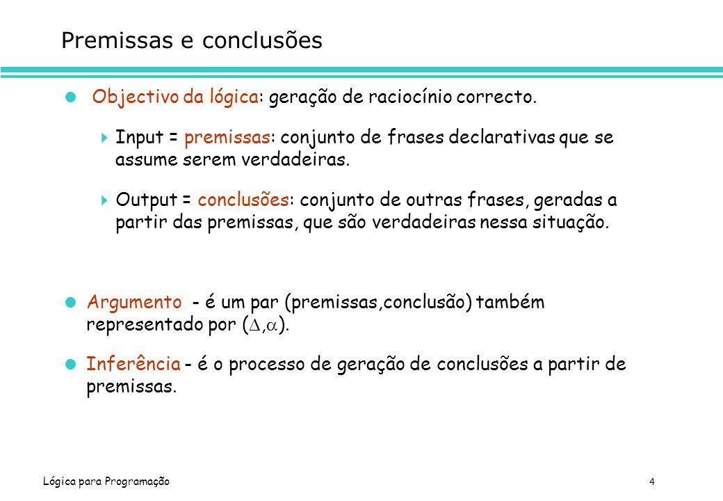 Premissas e conclusões