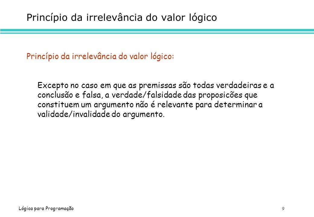 Princípio da irrelevância do valor lógico