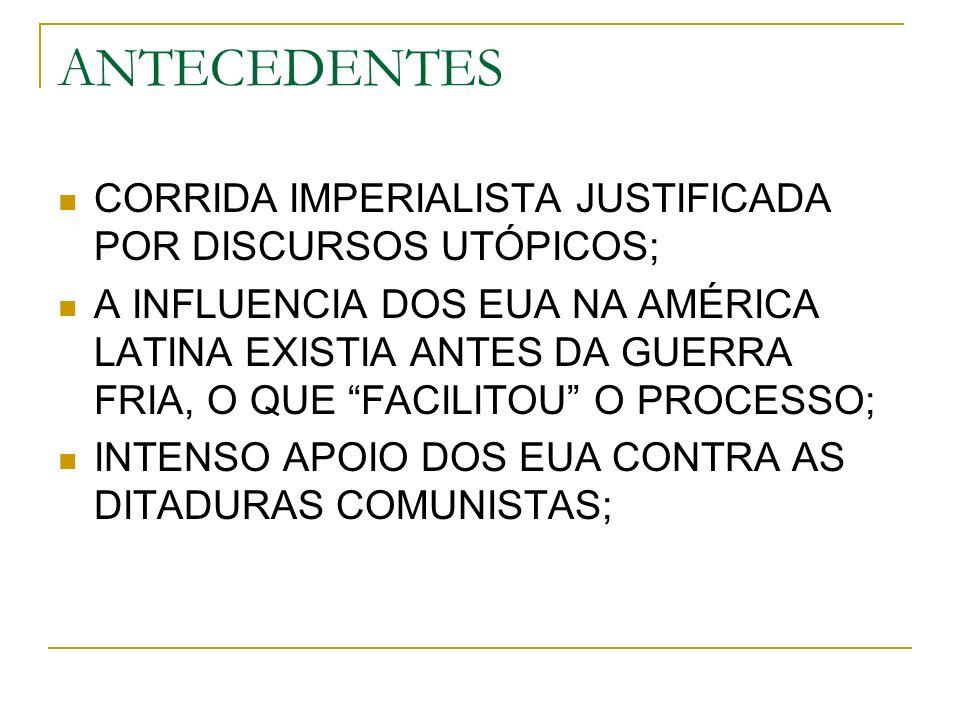 ANTECEDENTES CORRIDA IMPERIALISTA JUSTIFICADA POR DISCURSOS UTÓPICOS;