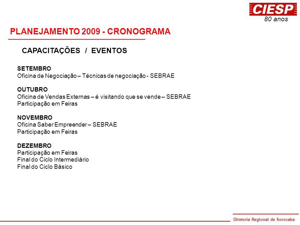 PLANEJAMENTO 2009 - CRONOGRAMA
