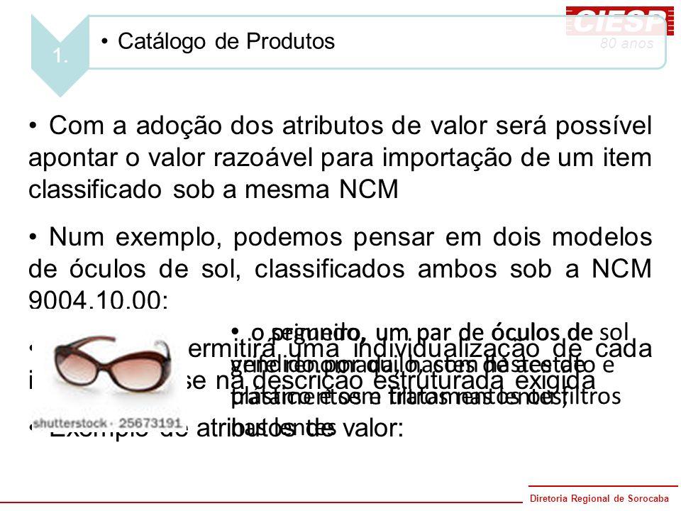 Exemplo de atributos de valor: