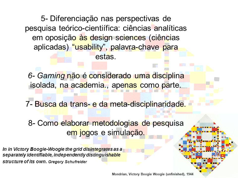 7- Busca da trans- e da meta-disciplinaridade.