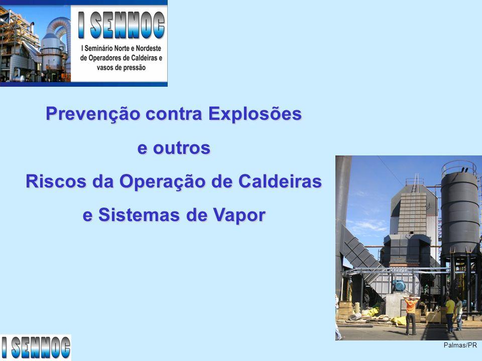 Prevenção contra Explosões Riscos da Operação de Caldeiras