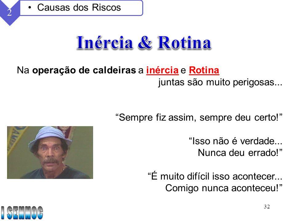 Inércia & Rotina Causas dos Riscos 2