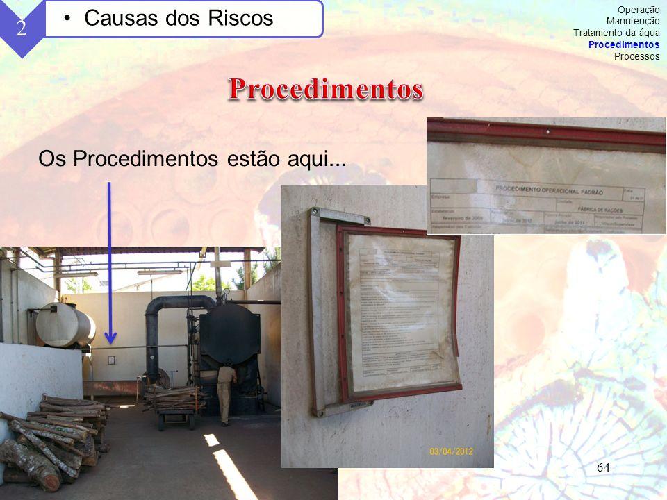 Procedimentos Causas dos Riscos 2 Os Procedimentos estão aqui...