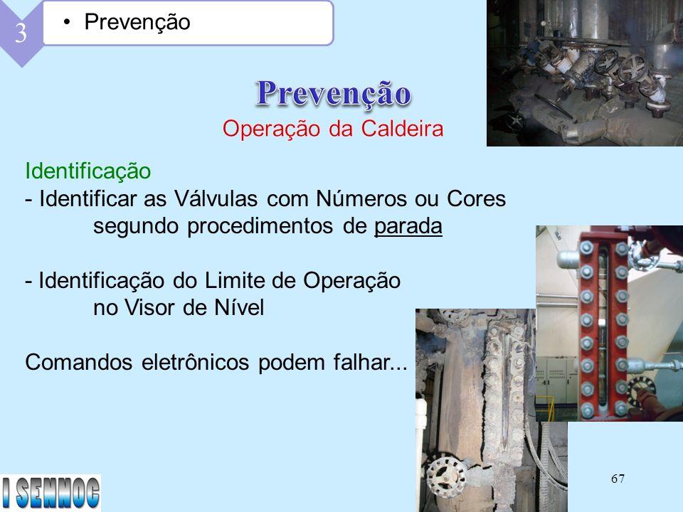 Prevenção 3 Prevenção Operação da Caldeira Identificação
