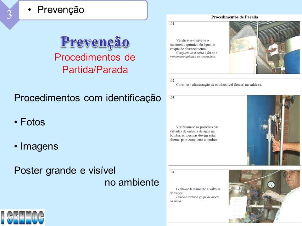 Prevenção 3 Prevenção Procedimentos de Partida/Parada