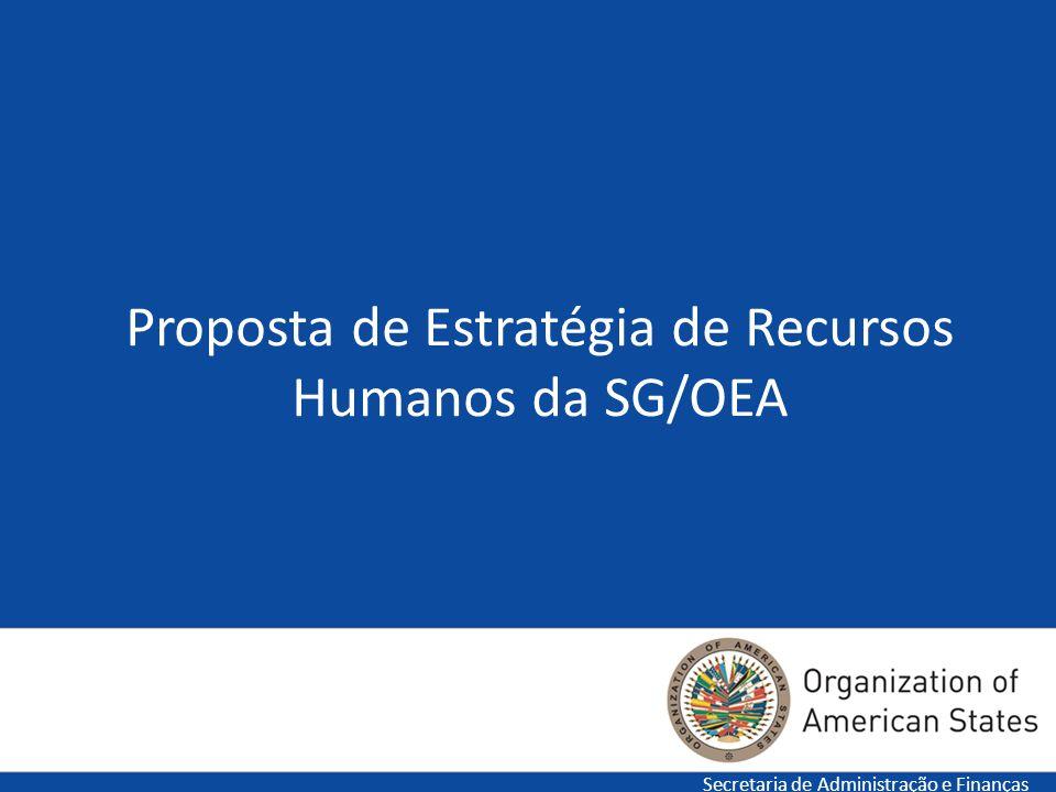 Proposta de Estratégia de Recursos Humanos da SG/OEA