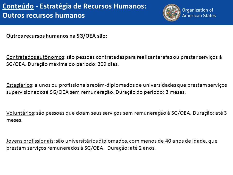 Conteúdo - Estratégia de Recursos Humanos: Outros recursos humanos