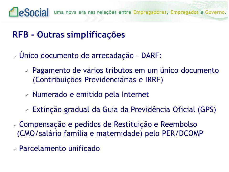 RFB - Outras simplificações