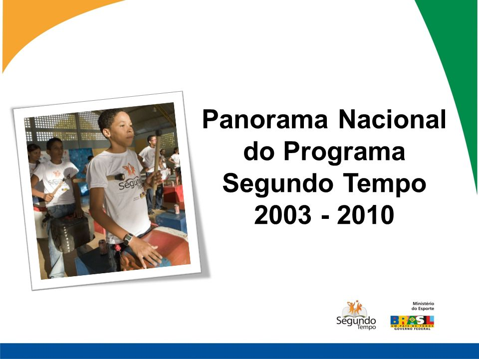 Panorama Nacional do Programa Segundo Tempo