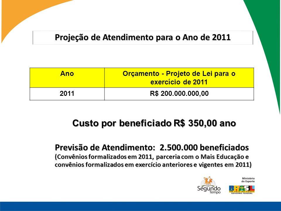 Projeção de Atendimento para o Ano de 2011