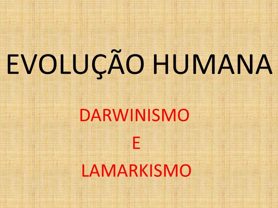 DARWINISMO E LAMARKISMO