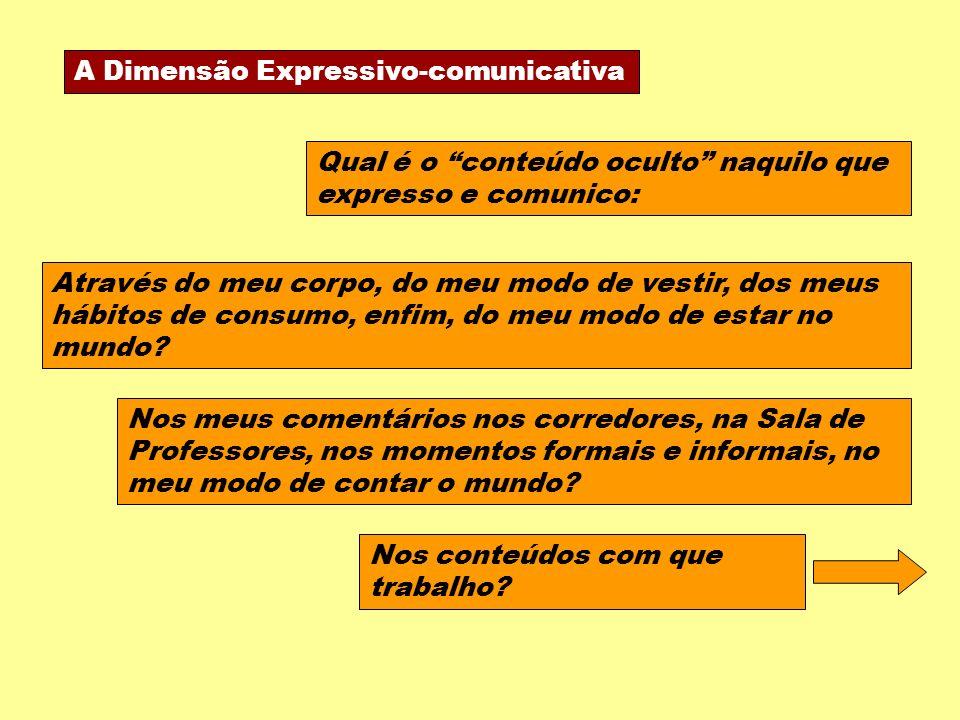 A Dimensão Expressivo-comunicativa