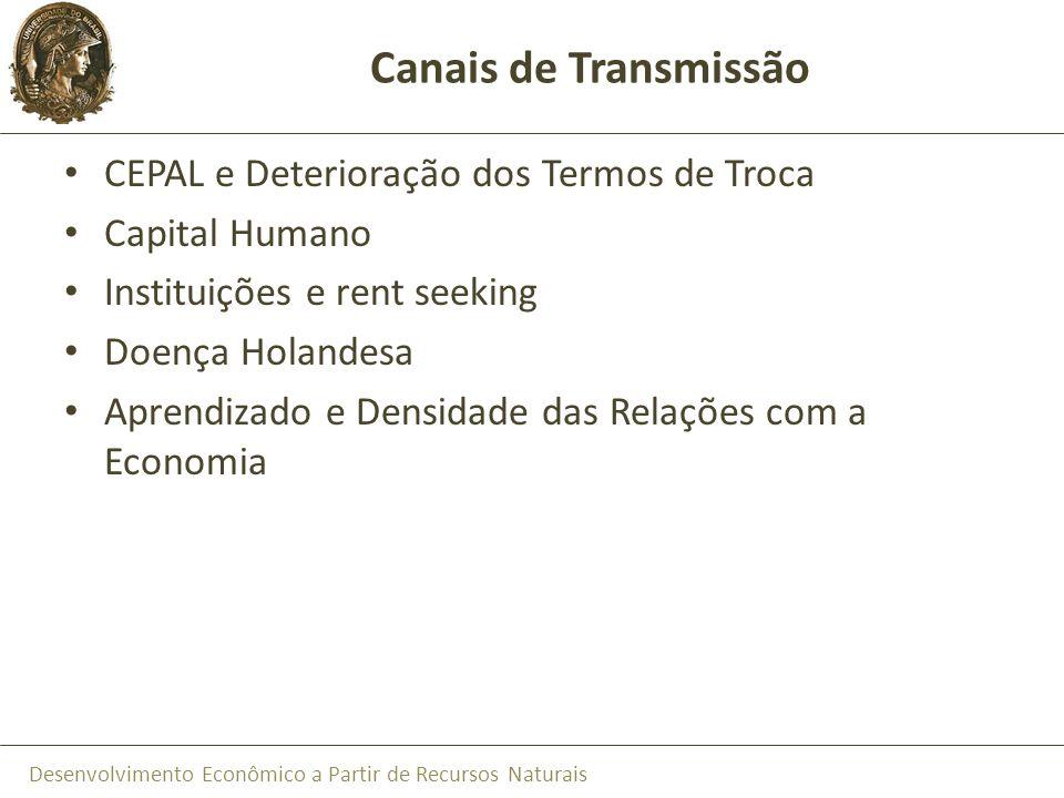 Canais de Transmissão CEPAL e Deterioração dos Termos de Troca