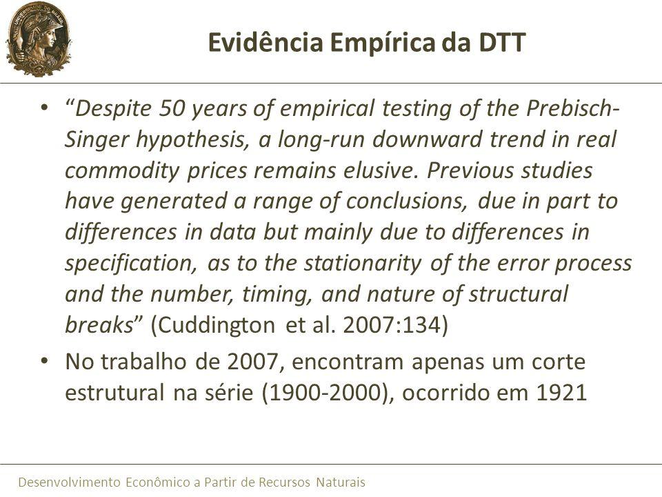 Evidência Empírica da DTT