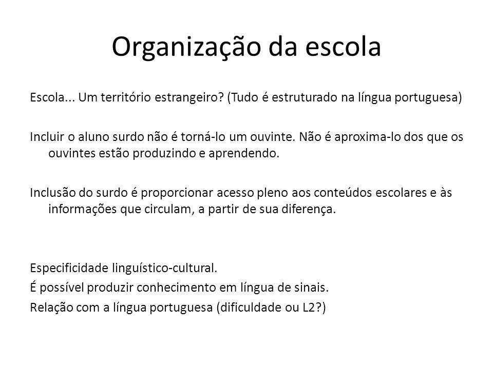 Organização da escola