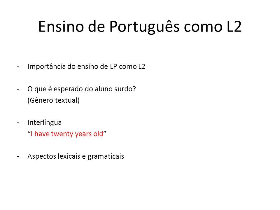 Ensino de Português como L2