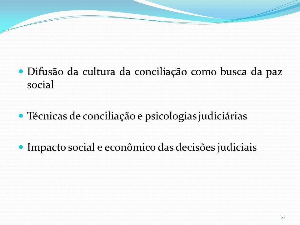 Difusão da cultura da conciliação como busca da paz social