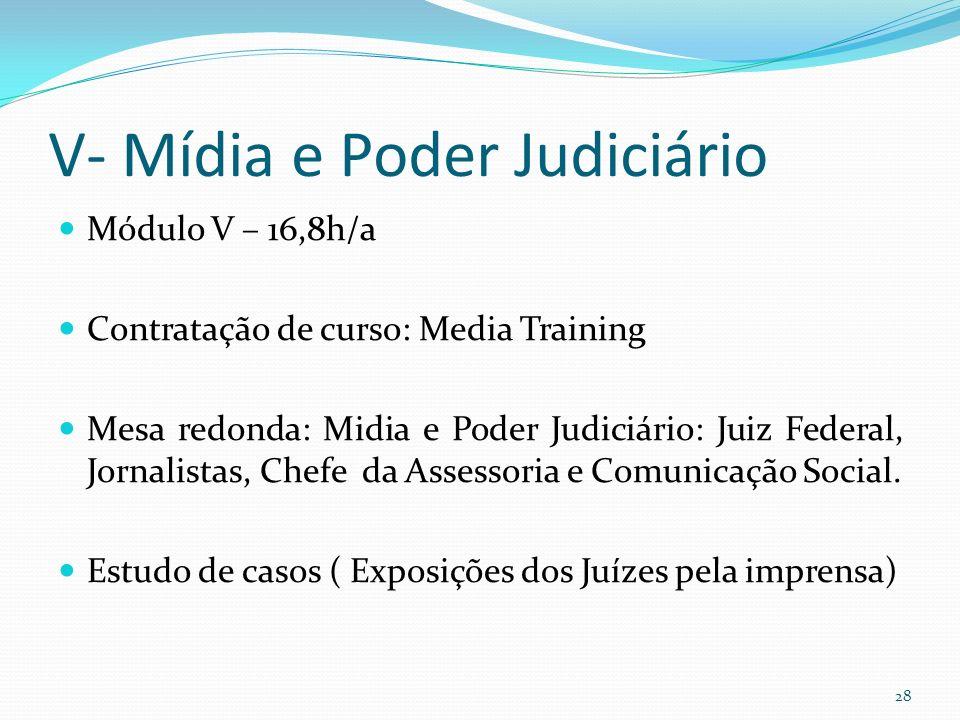 V- Mídia e Poder Judiciário