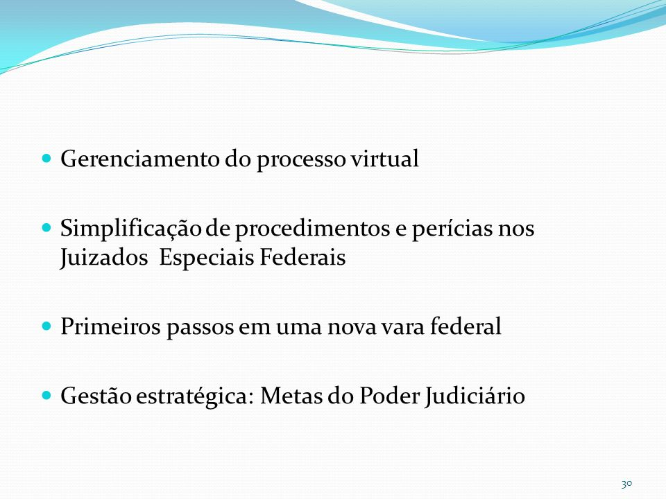 Gerenciamento do processo virtual