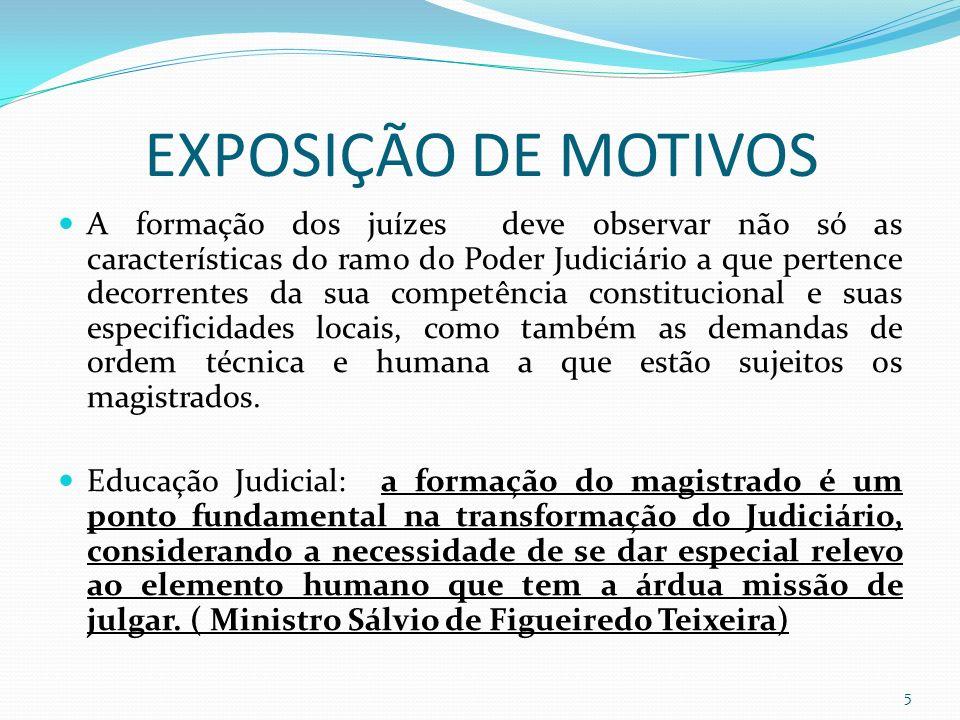 EXPOSIÇÃO DE MOTIVOS