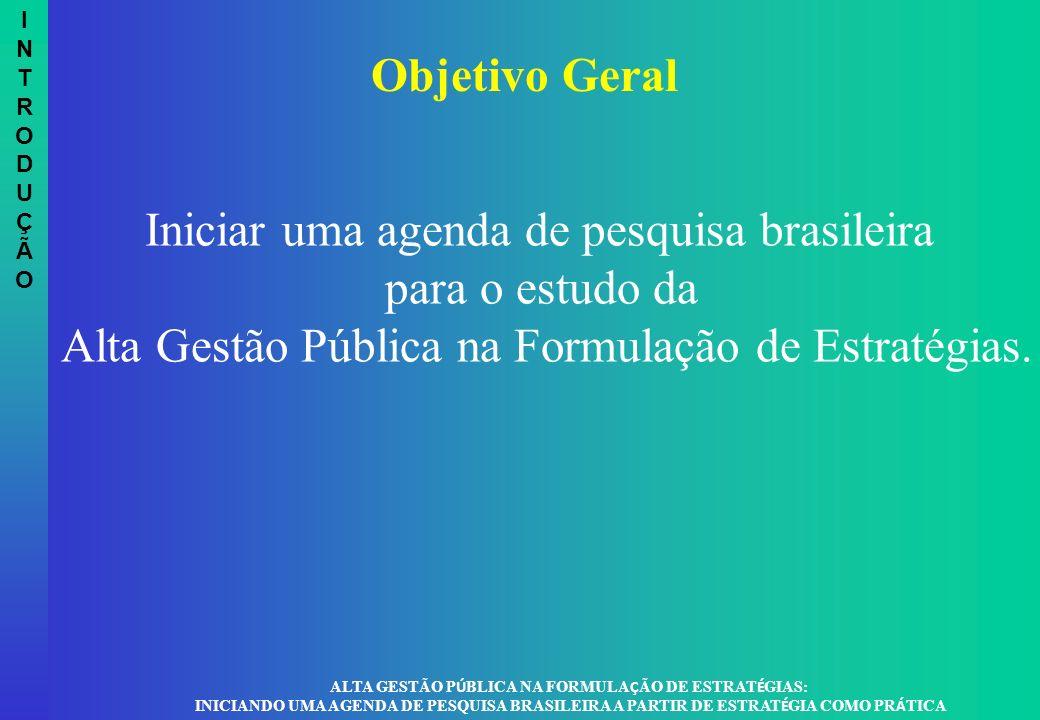 ALTA GESTÃO PÚBLICA NA FORMULAÇÃO DE ESTRATÉGIAS: