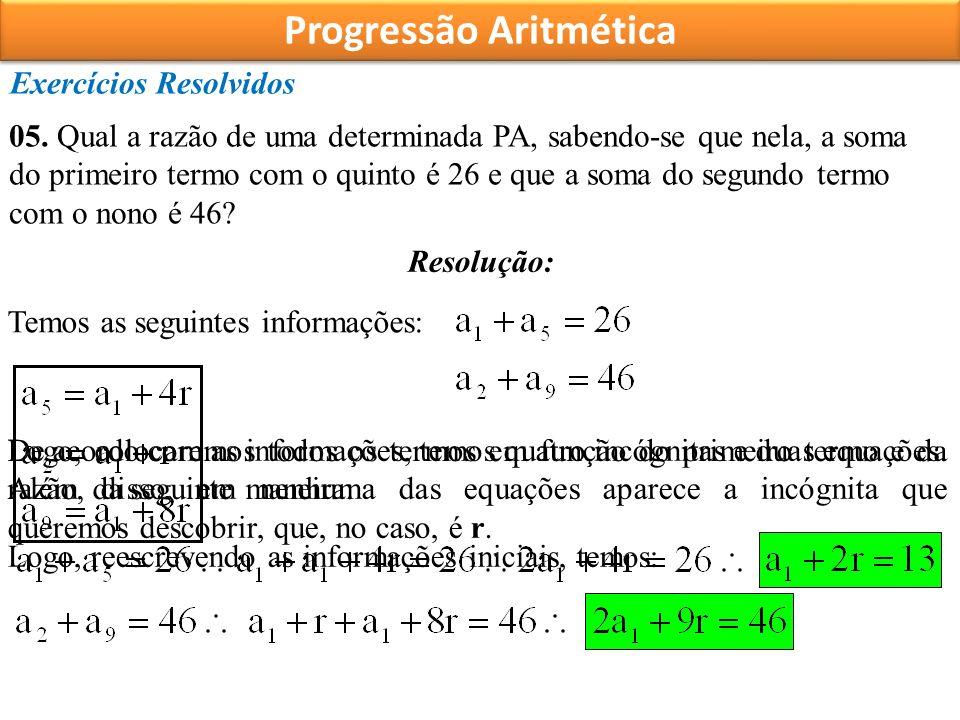 Progressão Aritmética