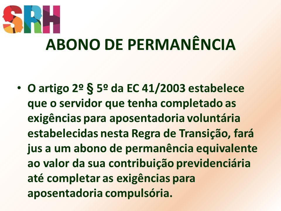 ABONO DE PERMANÊNCIA