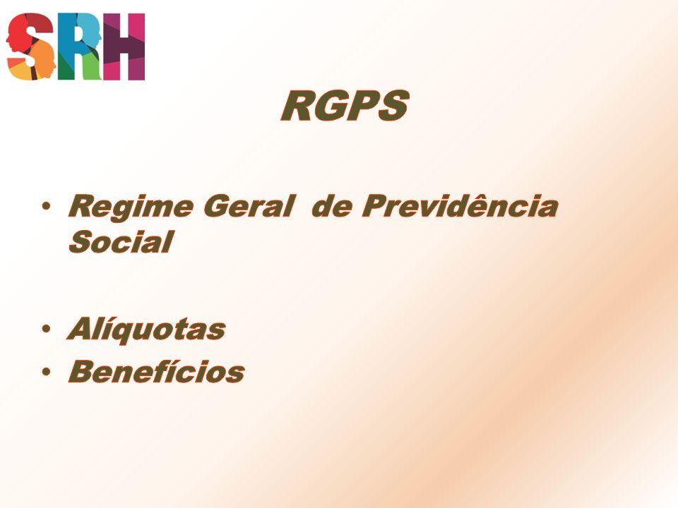 RGPS Regime Geral de Previdência Social Alíquotas Benefícios