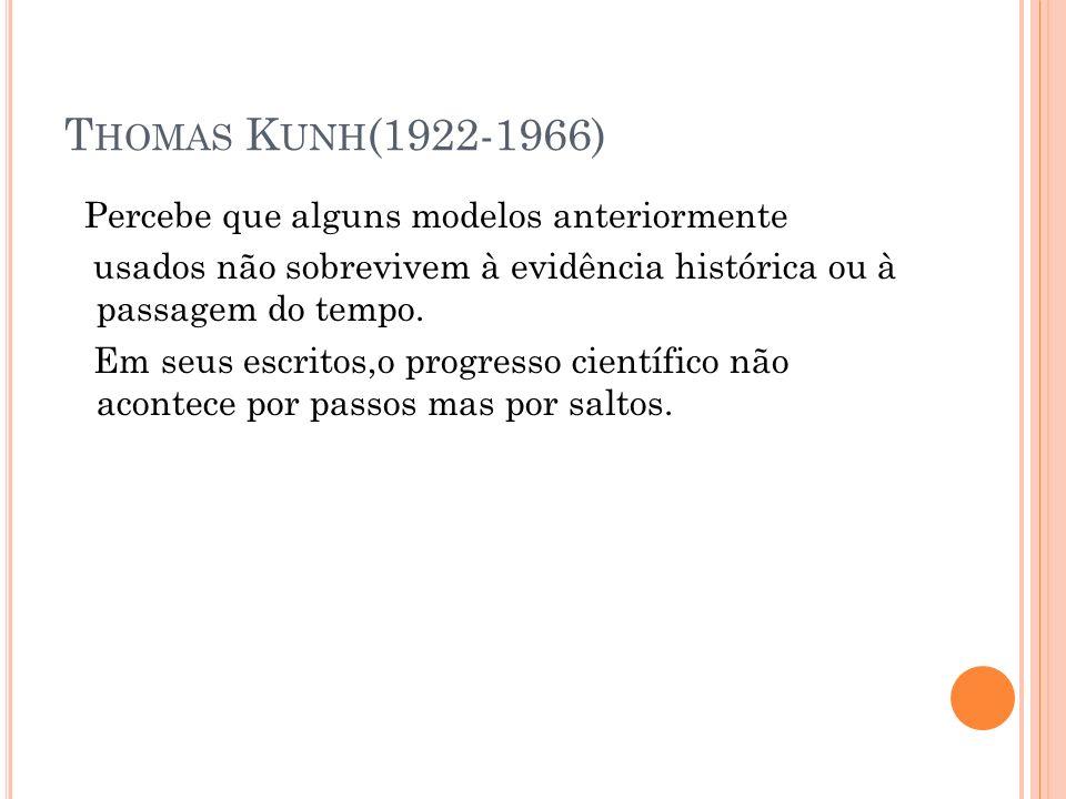 Thomas Kunh(1922-1966)