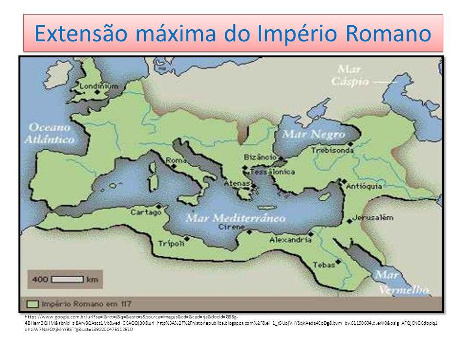 Extensão máxima do Império Romano